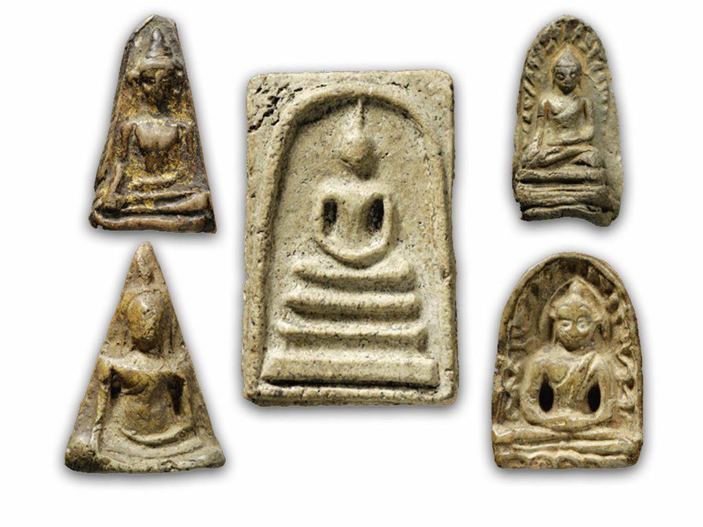 bộ 5 amulet trong bộ Benjapakee
